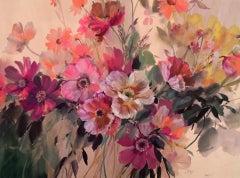 Jo Haran, A Bough of Warmth, Original Floral Art, Affordable Art