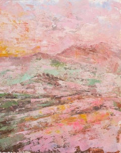 Charmaine Chaudry, Tuscany Hills, Original Abstract Landscape Painting