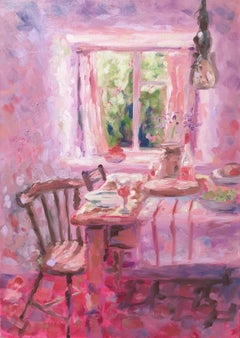 Charmaine Chaudry, Sunday Lunch, Original Interior Painting, Affordable Art