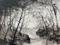James Bonstow, Approaching River Dart II, Original Woodland Landscape Art