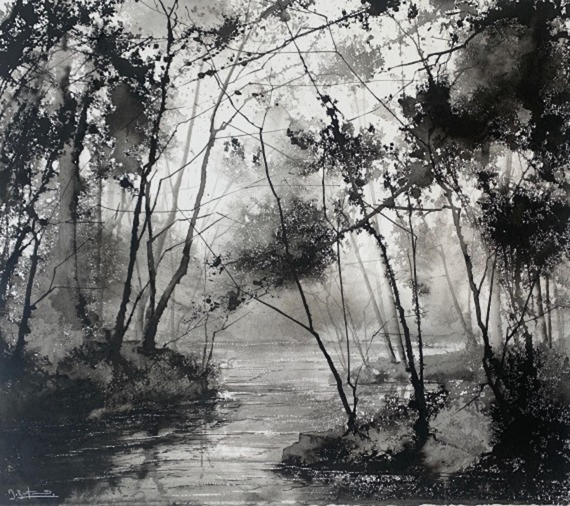 James Bonstow, River Dart Meander II, Original Landscape Art, Affordable Art