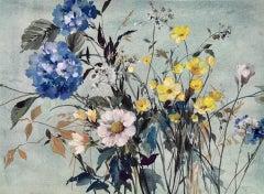 Delicacy, Jo Haran, Original Painting, Affordable Art, Floral Artwork