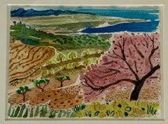 The Almond Tree Outside My Studio, Annabel Keatley, Original Watercolour Artwork