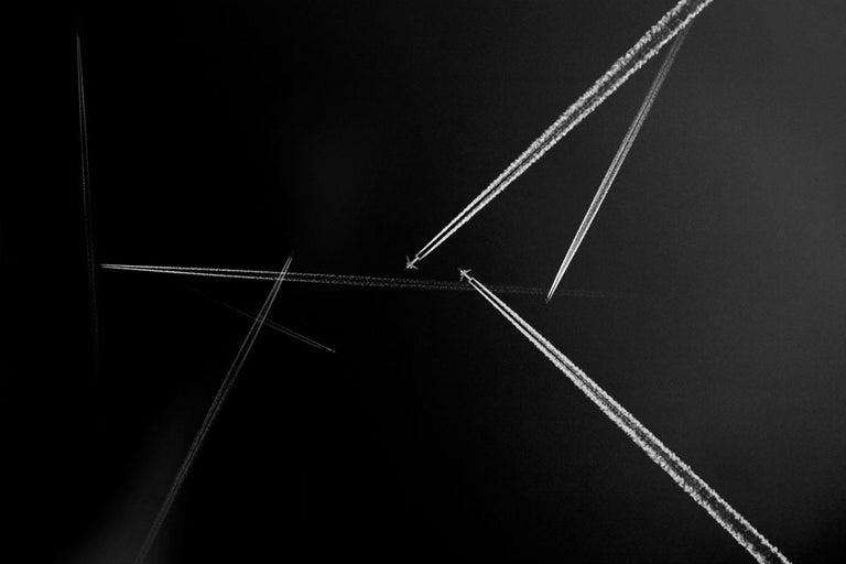 Tom Sullam Black and White Photograph - Flight II, skyscape, aeroplane art