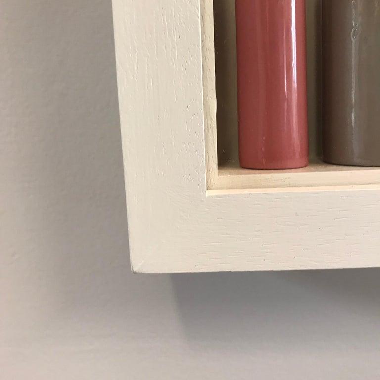 MULTICOLOURED SLIPCAST PORCELAIN, EMMA BELL, WALL SCULPTURE, SLIPCAST, FRAMES,  - Abstract Mixed Media Art by Emma Bell