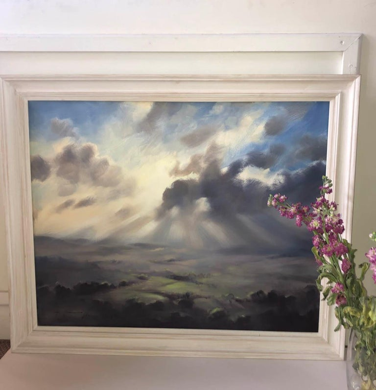 A Wiltshire Sky, Trevor Waugh, Paintings of Wiltshire, Original Oil Paintings For Sale 9