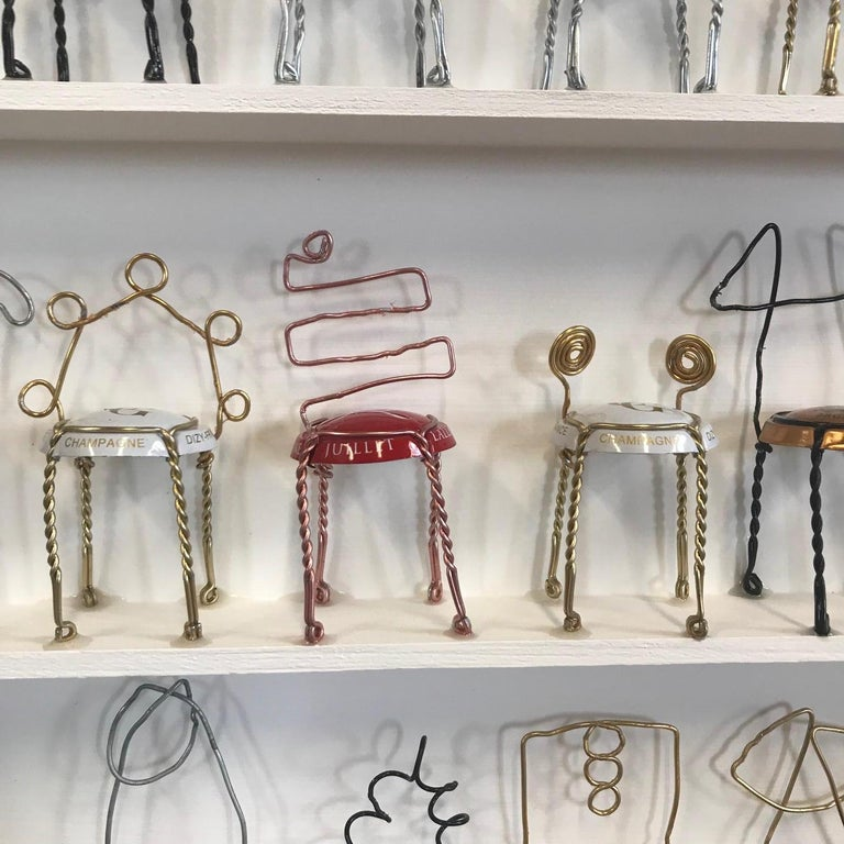 Champagne Chairs by Joanne Tinker, Original and Contemporary Art installation For Sale 4