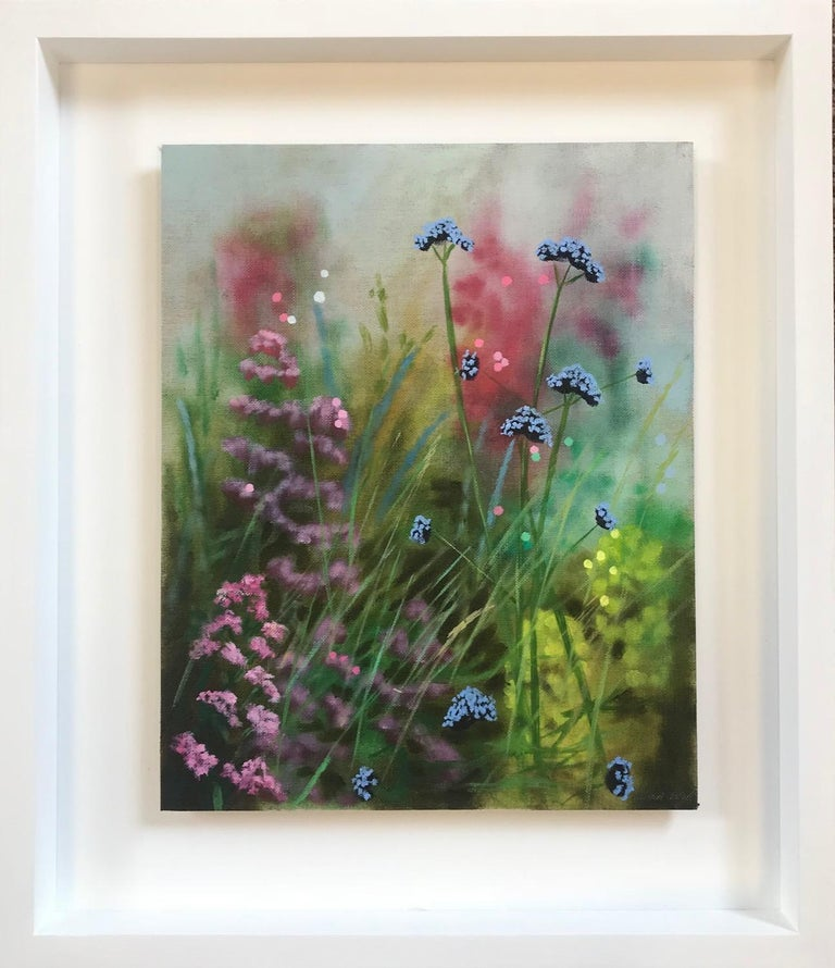 Island Garden Border III, Floral Painting on Board by Dylan Lloyd for Sale For Sale 8