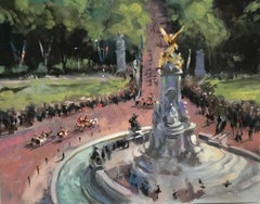 View from Buckingham's Palace, Pall The Mall London, Trevor Waugh, Impressionist