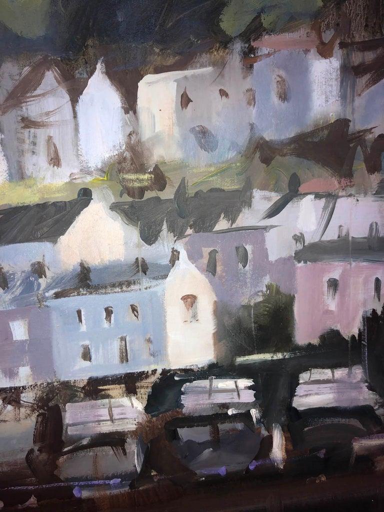 Dartmouth Harbour, Trevor Waugh, Devon Art, River Dart, Original Oil Painting For Sale 7