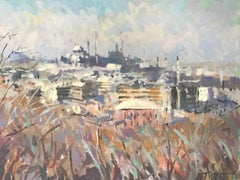 Trevor Waugh, View of Istanbul, Original Oil Painting for Sale Online, Istanbul