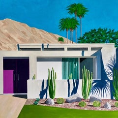 Califonia Cactus, contemporary Hockney style art