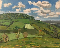 The Stroud valley BY ELEANOR WOOLLEY,  Abstract Landscape Painting for Sale