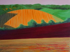 Early morning over Weald of Kent BY CHRISTO SHARPE, Original Contemporary Art