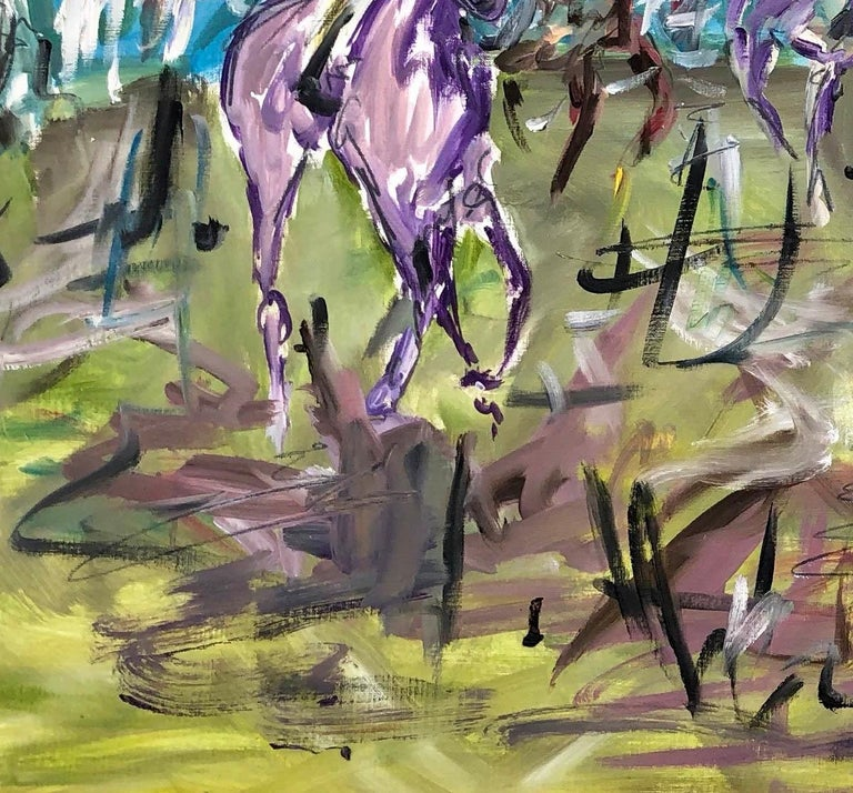 Cheltenham Races BY GARTH BAYLEY, Horse Art, Animal Art, Paintings of the Races For Sale 1