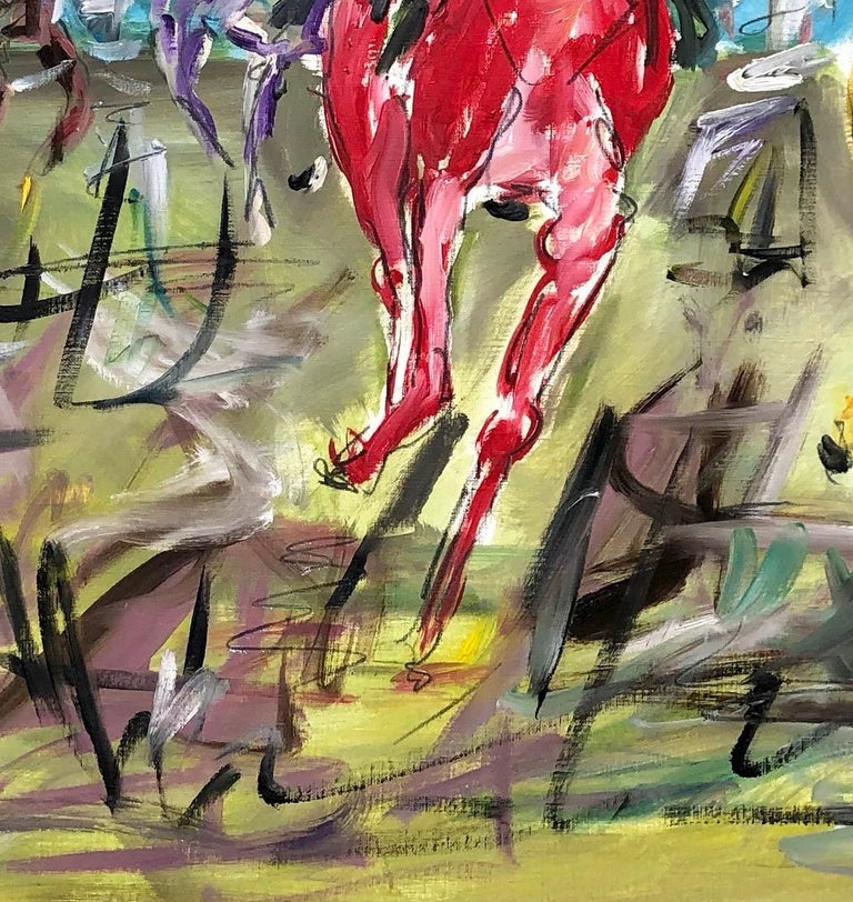 Cheltenham Races BY GARTH BAYLEY, Horse Art, Animal Art, Paintings of the Races For Sale 2