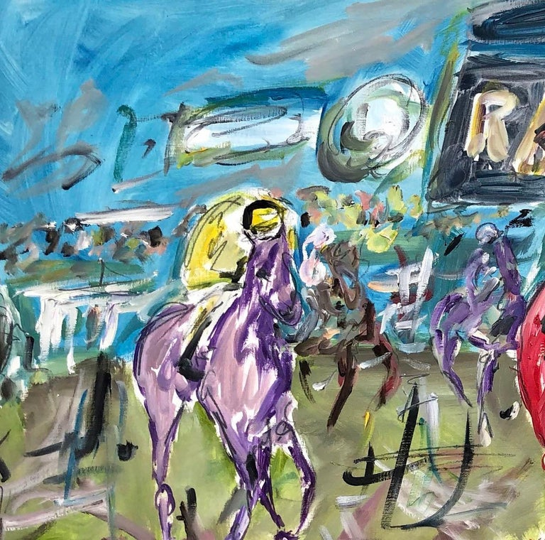 Cheltenham Races BY GARTH BAYLEY, Horse Art, Animal Art, Paintings of the Races For Sale 3