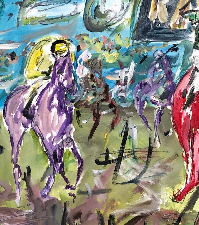 Cheltenham Races BY GARTH BAYLEY, Horse Art, Animal Art, Paintings of the Races For Sale 4