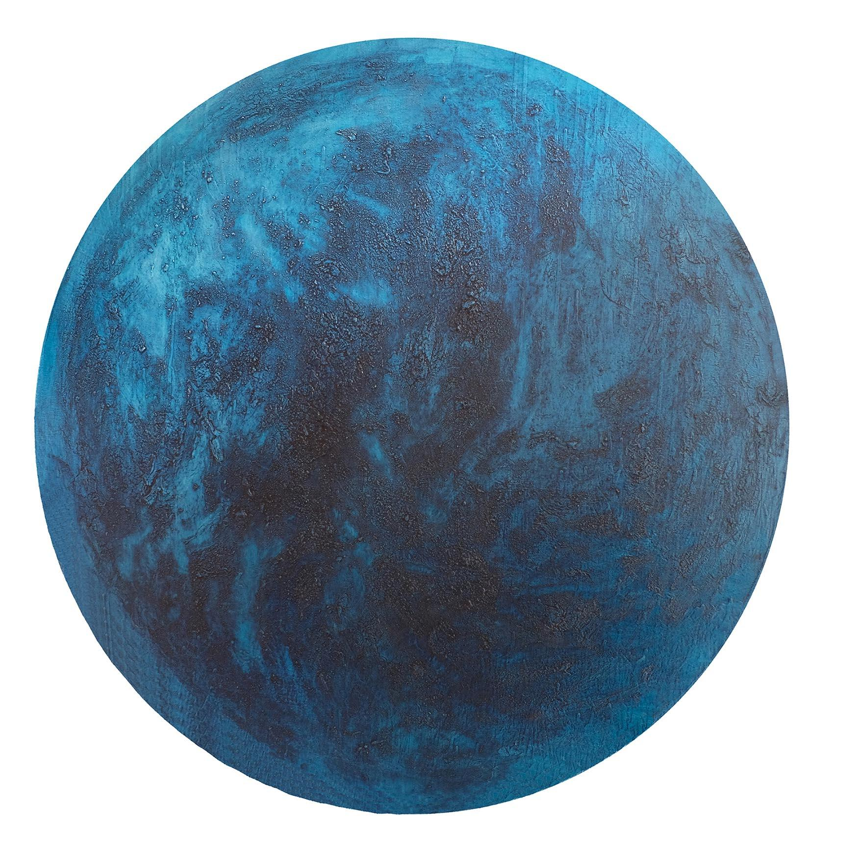 CN 7 - Oil Painting, inspired by surface structure of planets and the moon