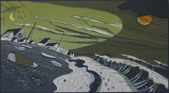 Walmer, Limited Edition Print, Linocut print, Landscape print, Colin Moore