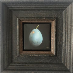 Dani Humberstone, Plum Blue, Original Painting, Food Art, Still Life Painting