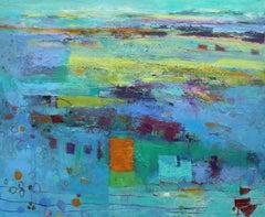 Teresa Pemberton Cadgwith Cove, Original Mixed Media Contemporary Art, Abstract