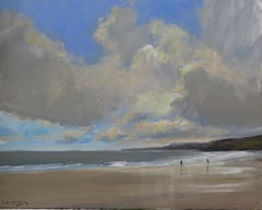 Scarborough, Sept 30. Painting by Malcolm Ludvigsen, Original Painting, Seascape