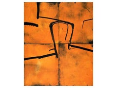 Head on Orange, Graham Fransella, Limited ed. Etching, Abstract, Figurative