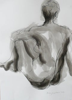 Back View BY MARY KNOWLAND, Figurative Art, Black and White Art, Figurative Art