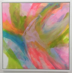 Jane Wachman, Summer Days, Contemporary Painting, Bright Art, Abstract Painting