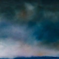 Say It Again, Sophie Berger, Original Painting, Blue Art, Landscape Painting Art