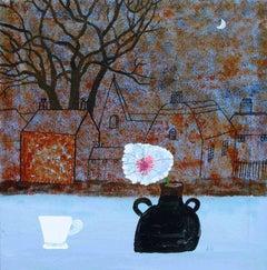 Village Green II, Andrea Humphries, Original Painting, Still Life Art, Landscape
