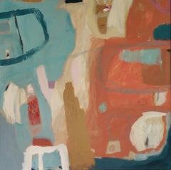 On Golden Sand, Diane Whalley, Abstract Expressionist, Bright Art