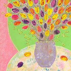 Amy Christie, Colour Burst, Bright Art, Floral Art, Still Life Print, Affordable