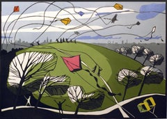 Parliament Hill, Colin Moore, Bright Art, London Art, Cityscape, Affordable Art