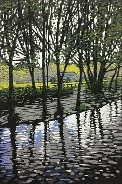 Grasmere River BY ALEXANDRA BUCKLE, Limited Edition Linocut Landscape Print