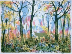 Woodland Scene, Tim Southall, Bright Art, Affordable Art, Contemporary Print