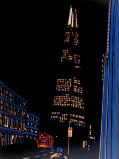 Jennifer Jokhoo, Borough Solstice, Dark Print, Cityscape Art, Architectural Art