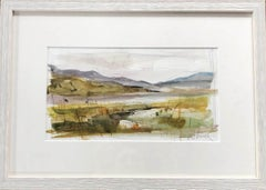 Jemma Powell, Peeping Through the Rushes, Original Watercolour Painting, Bright