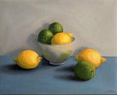 Jonquil Williamson Lemons and Limes with bowl Original Still life Painting