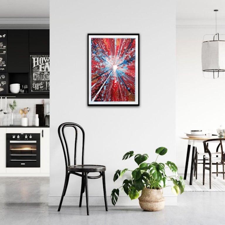 Chris Keegan, Boom, Bright Abstract Art, Portrait Art, Long Art, Affordable Art For Sale 2