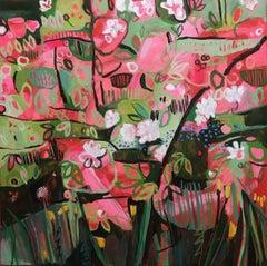 APPLE BLOSSOM, FORGET-ME-NOTS AND COLTSFOOT, ELAINE KAZIMIERCZUK, Bright Art