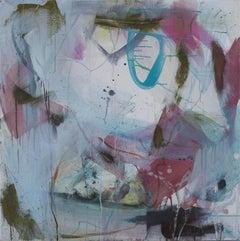 Judith Brenner, Spello, Original Abstract Art, Mixed Media Painitng, Bright Art