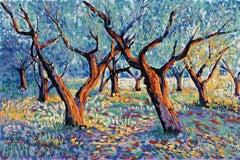 Tree Poem 10 (The Olive Grove) impressionist oil painting