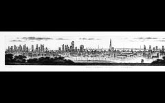 John Duffin, Parliament Hill - London, London Art, Affordable Art, Monochrome Ar