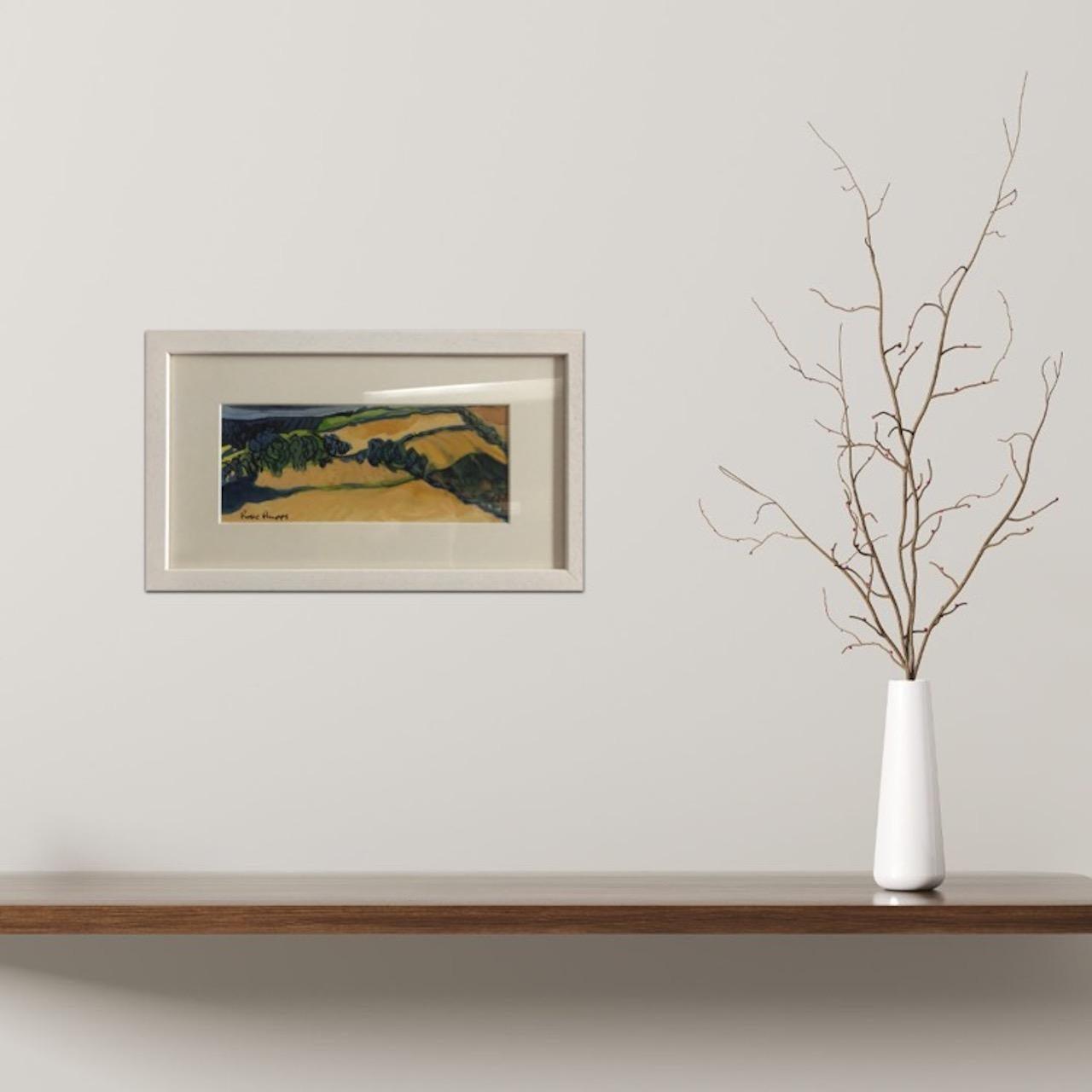 Rosie Phipps, Cotswold Light, Original Watercolour Landscape Painting