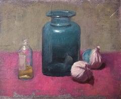 Benedict Flanagan, Blue Jar, London Art, Still Life Art, Traditional Food Art