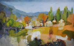 Lucy Powell, Umbrian Landscape, Original Landscape Painting, Contemporary Art