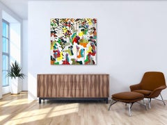 Winter Snow Distortion, Abstract, Multi coloured, Affordable art, Large painting