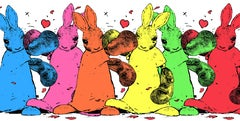 Harry Bunce, United Colours of Bunny Town, Animal Art, Bright Art, Conservation